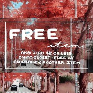 FREE item w/ purchase !!